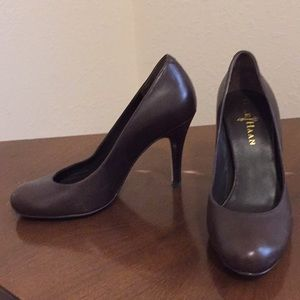 Cole Haan Chocolate Brown Pumps  Leather Heels 5